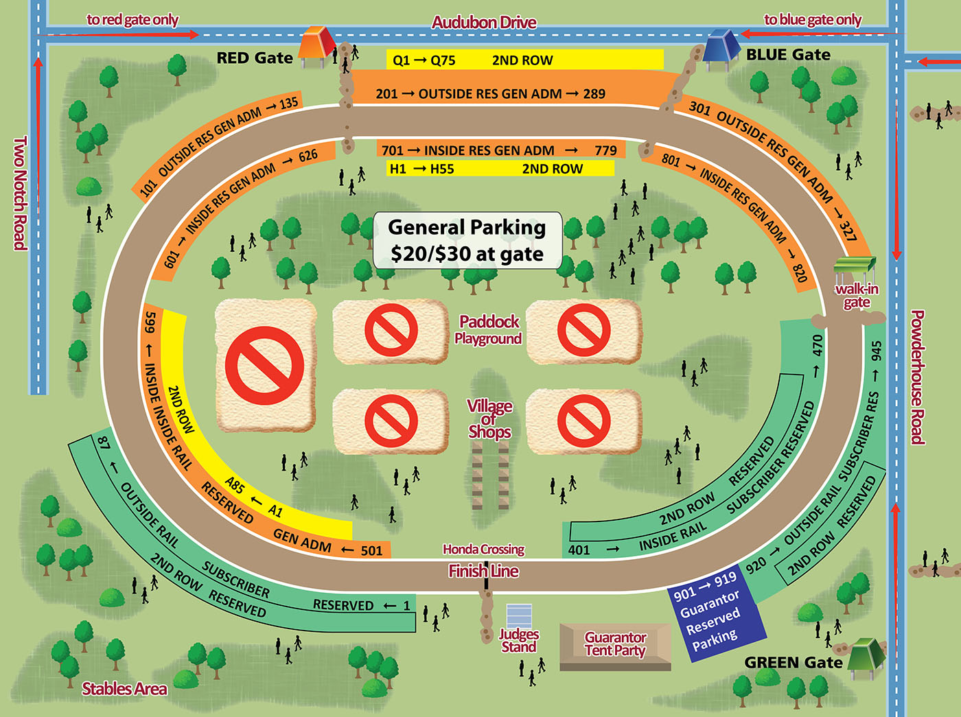 Fall Steeplechase Map
