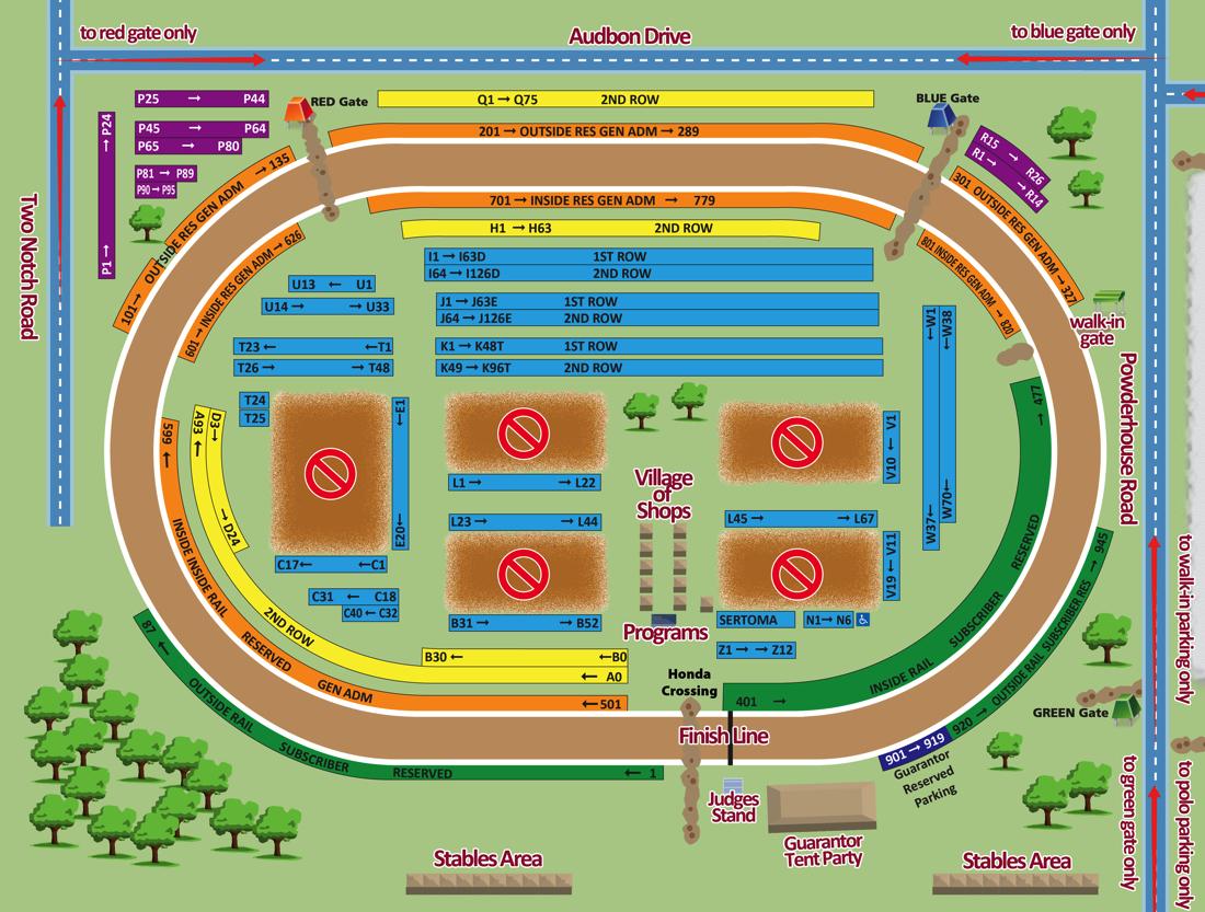 2019 Spring Steeplechase map